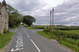 The cross road where the collision happened between Markington and Bishop Thornton, North Yorkshire