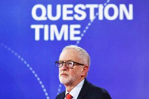 Labour leader Jeremy Corbyn at the Question Time debate in Sheffield