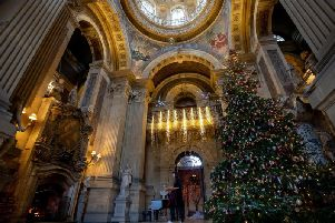 The famous 25ft tree in the Great Hall at Castle Howard