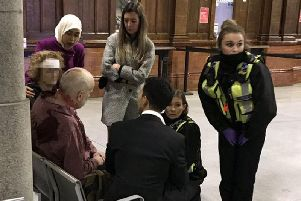 The wounded being treated following a knife attack at Manchester Victoria railway station. Mahdi Mohamud, 26, has pleaded guilty at Manchester Crown Court to a terrorism offence and three counts of attempted murder after the knife attack last New Year's Eve.