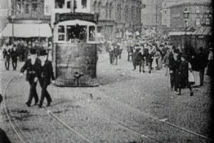 A still image of very early film footage in Bradford. Picture: Yorkshire Film Archive.