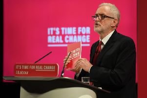 Labour Party leader Jeremy Corbyn at the launch of the Labour Party race just hours after an unprecedented intervention by the Chief Rabbi over anti-Semitism.