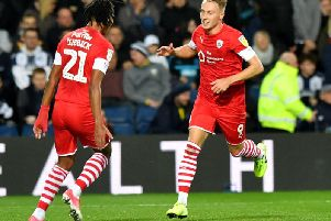 Cauley Woodrow, pictured scoring at West Brom. PICTURE: PA.
