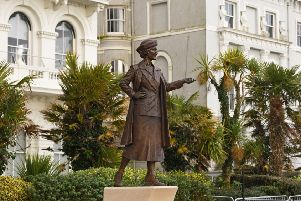 The statue of Nancy Astor, the first female MP, which was unveiled in Plymouth, Devon. Photo: Stefan Rousseau/PA Wire