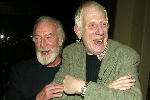 Jonathan Miller, pictured here (right) with Christopher Plummer in 2004. (Gettys)