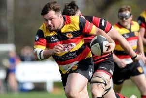 Charley Purkiss-McEndoo playing for Harrogate RUFC