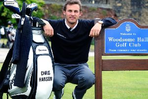 Chris Hanson at his local Woodsome Hall Golf Club