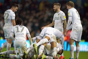 Leeds United celebrated their biggest win of the season with a 4-0 win over Middlesbrough on Saturday. (Pic: PA)