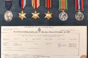Sister Ethel Carter's medals and death certificate