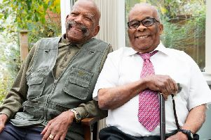 Alford Gardner, 93 and Lionel Roper, 96, volunteered to serve in the RAF in 1944. After WW2, Mr Gardner settled in Leeds and Mr Roper went back to Jamaica before returning to Britain in 1956. They are thought to be the last surviving Jamaican ex RAF servicemen in Leeds. . They will present a copy of the  Eulogy book to Council leader Councillor Judith Blake on behalf of the city.  'Photograph by: Joanne Crawford
