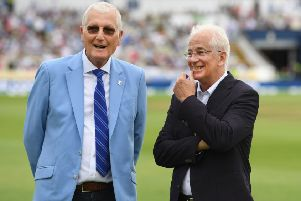 HERO: Bob Willis, left, and David Gower who were members of England's greatest Test Team to mark England's 1000th Test Match at Edgbaston last year. Picture: Stu Forster/Getty Images