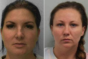 Christine Callaghan (left) was caught following an NCA investigation into the crimes committed by Yorkshire woman Jodie Little (right). Credit: NCA