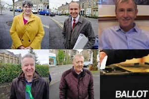From top left - Chantelle Seddon (Liberal Democrat), Giles Bridge (Labour), Nigel Evans (Conservative), Paul Yates (Green Party) and Tony Johnson (Independent)