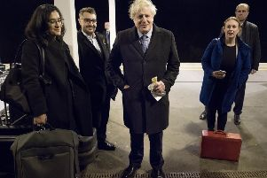 Boris Johnson on the campaign trail ahead of polling day.