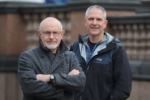 19 November  2019......   Halo Trust medics�Bob Mark and Steve Archer�Picture Tony Johnson