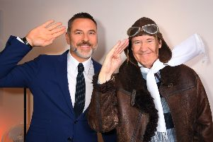 """David Walliams and Nigel Planer during the tour announcement for David Walliams' """"Grandpa's Great Escape Live"""".  Picture: Dave J Hogan"""