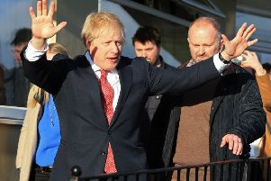 Prime Minister Boris Johnson made a weekend visit to see newly elected Conservative party MP for Sedgefield, Paul Howell during a visit to Sedgefield Cricket Club in County Durham.