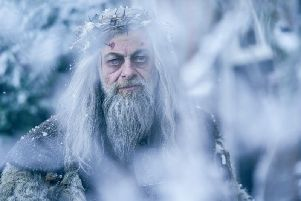 Andy Serkis as the Ghost of Christmas Past in the new TV adaptation.