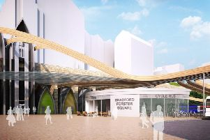 Artists' impression of how the Forster Square Railway Station could look