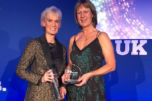Equine coach Sue Ringrose, winner of the Coach Educator of the Year Award at the UK Coaching Awards for her work developing new training programmes for the horse racing industry. Pictured at the award ceremony with fellow winner Judy Murray