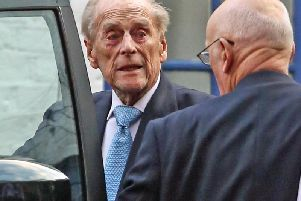 The Duke of Edinburgh leaves King Edward VII Hospital in London, after being admitted last Friday for observation and treatment in relation to a pre-existing condition.