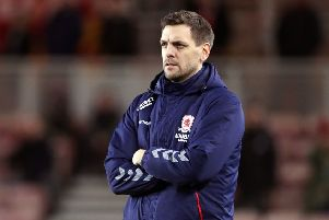 Middlesbrough manager Jonathan Woodgate.