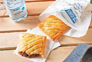The meat version of the steak bake is one of the company's most popular products