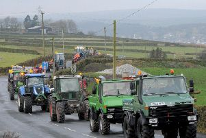 The Annual Bronte Tractor Run now in its 19th year to support the Yorkshire Air Ambulance. Image and video: Steve Riding