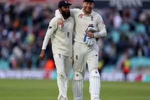 England's Adil Rashid and Jonny Bairstow are set to be made Freemen of Bradford. Credit: Steven Paston/PA Wire