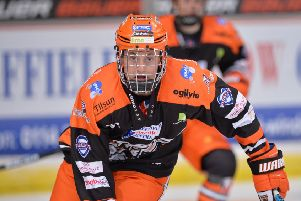 ON TARGET: Sheffield Steelers' teenage forward Alex Graham scored a late consolation goal for GB Under-20s against Japan. Picture: Dean Woolley.