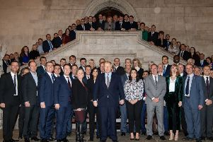 Boris Johnson with the new intake of Conservative MPs - but will they deliver for Yorkshire and the North?