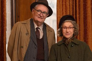 Jim Broadbent and Dame Helen Mirren in The Duke. Picture: Pathe.