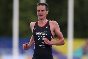 Back for more: Alistair Brownlee.