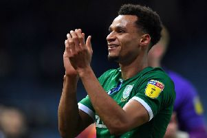 Sheffield Wednesday's Jacob Murphy: Celebrating after the final whistle.