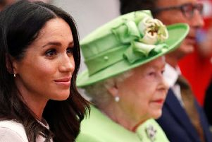 The Queen with the Duchess of Sussex.