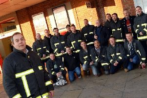Neil Carbutt, Brigade Secretary, previously pictured with Firefighters from across Doncaster and Rotherham. Picture: Marie Caley