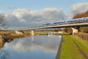 Artist's impression of HS2. Photo: HS2