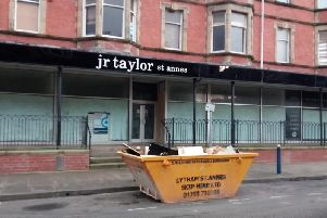 Work has started on the former JR Taylor store, which closed five years ago this week