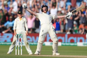 Player of the year: England's Ben Stokes celebrates winning the third Ashes Test at Headingley. (Picture: Mike Egerton/PA)
