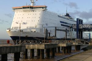 P&O North Sea Ferries' vessel Pride of Hull on her berth on the River Humber.'Picture Terry Carrott