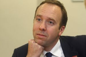 Health and Social Care Secretary Matt Hancock.