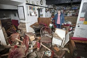 Rowena Hutchinson's pub, the Red Lion at Arkengarthdale was devastated by the floods