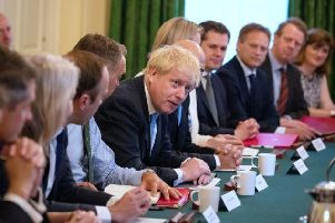 Boris Johnson's top team. Photo: Getty