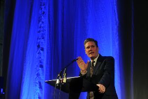 16 March 2018 .......      Keynote speaker Sir Keir Starmer at The Yorkshire Post and Ward Hadaway  Yorkshire Fastest 50 awards 2018 held at Aspire in Leeds.  Picture Tony Johnson.