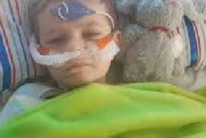 Luke Mortimer, from Skipton, in Sheffield Children's Hospital
