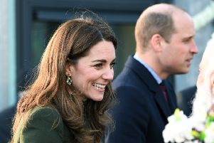 The Duke and Duchess of Cambridge at the Khidmat Centre, Bradford, last week.