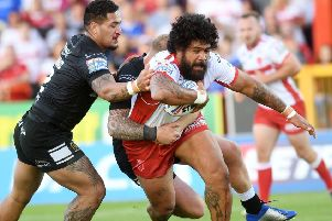 Mose Masoe, in action for Hull KR against Hull FC last year. 'Picture: Jonathan Gawthorpe.