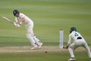 PUSHING ON: Yorkshire's England Test captain Joe Root pushes one through the leg side on day one of the fourth Test in Johannesburg. Picture:  CHRISTIAAN KOTZE/Getty Images