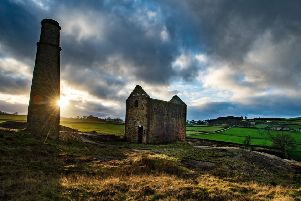 Late afternoon sun illuminates the Connonly Lead Mine ruins.'20 January 2020.  Picture Bruce Rollinson'TECH DETAILS: Nikon D4, 17-35mm f2.8 Nikkor, 250th sec @ f8, 125iso.