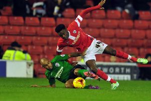 Devante Cole, pictured playing for Barnsley, has joined Doncaster Rovers (Picture: Tony Johnson)